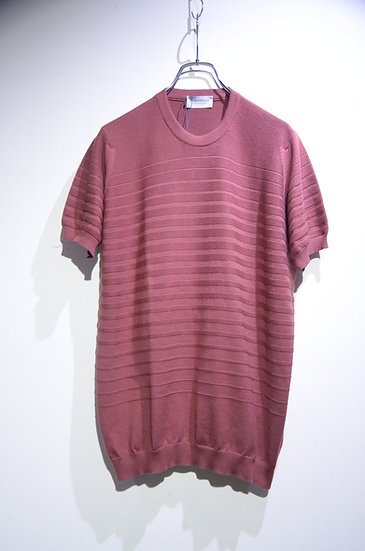John Smedley Sea Island Cotton Cason Knit Tee Made In UK ジョンスメドレー コットン Tシャツ