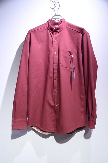 Grove & Co Mandarin Collar Shirts WINE Made in UK グローブ&コー スタンドカラー シャツ