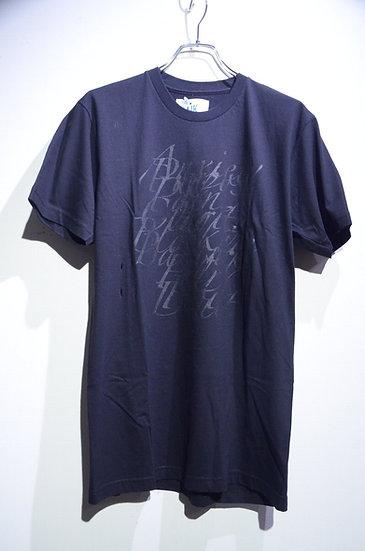 HAiK w/ Alphabet Graphics T-shirts Black Made in Lithuania ハイク テキスト デザイン Tシャツ