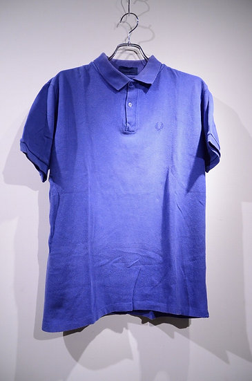 80s-90s Fred Perry Polo shirts BLUE Made in England  フレッドペリー 鹿の子 ポロシャツ