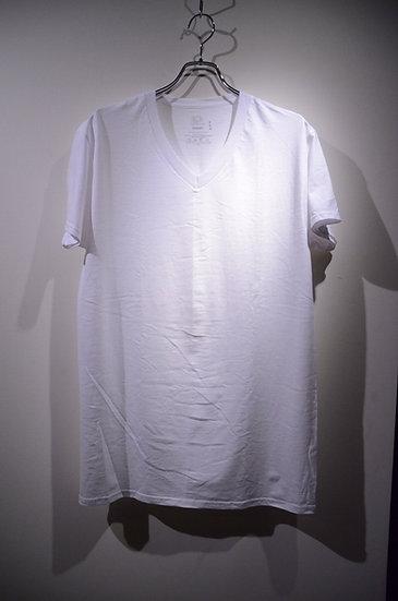 フルーツオブザルーム Vネック 白 Tシャツ シンプル 肌着 タフ フィット アメリカ タイト コットン 安い コスパ 安価