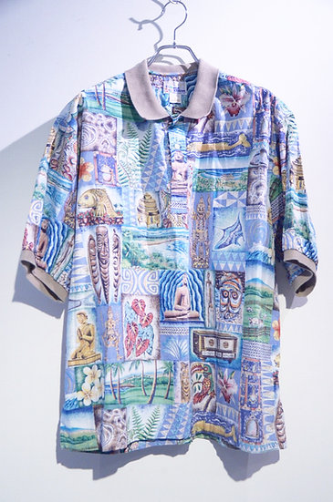 Used 80's Reyn Spooner Shirt Exclusive Line Made In Hawaiian レインスプーナー ハワイアンシャツ