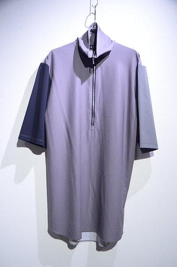 HAiK w/ Poly Half Zip Neck Tshirt C Made in Lithuania ハイク ウィズアス ポリハーフジップ Tシャツ