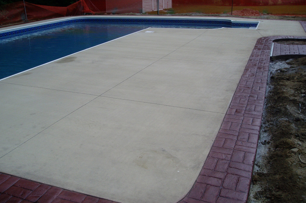 Colored Concrete with Basketweave Brick
