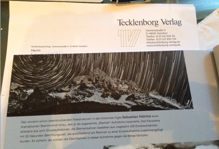 Vielen Dank an den Tecklenborg Verlag für die Aufnahme meines Fotos in die Lesergalerie der aktuellen Ausgabe des Schwarzweiss - Fotomagazins. Freue mich sehr! :-)