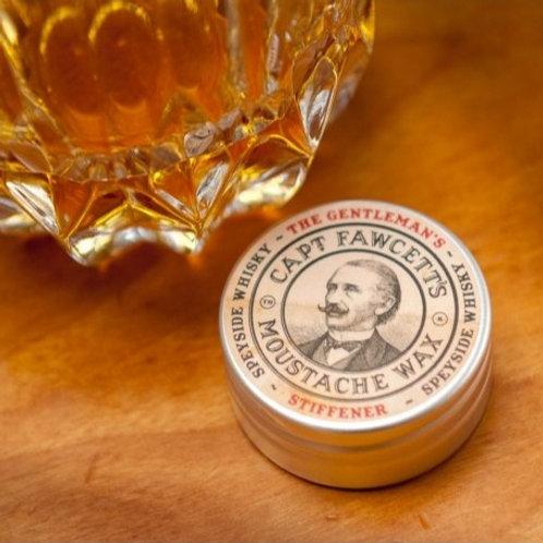 Cera Bigote Gentleman's Stiffener Whisky de Malta Captain Fawcett 15m