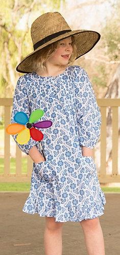 Breezy dress - Blue Garden