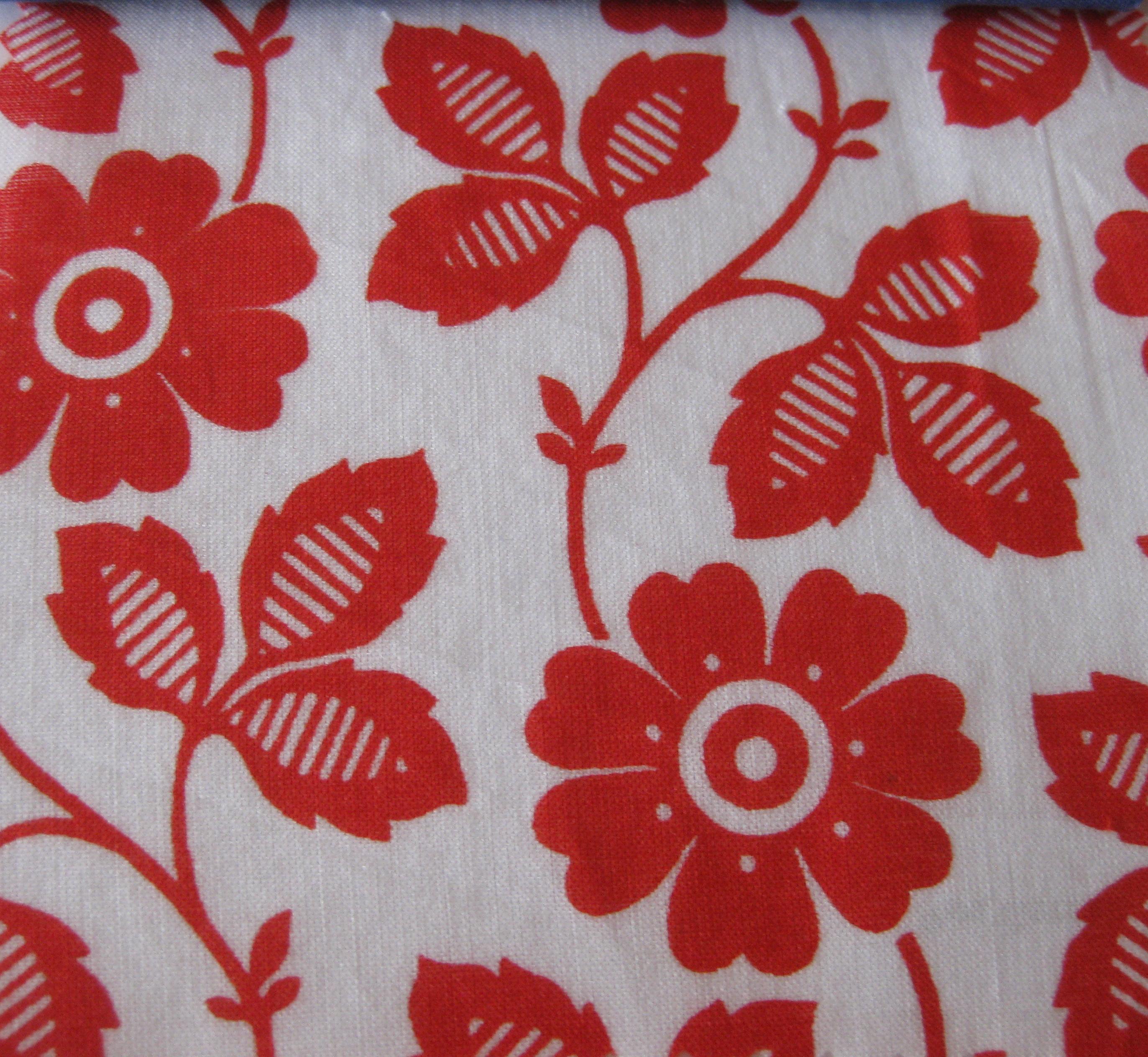 Red Floral garden