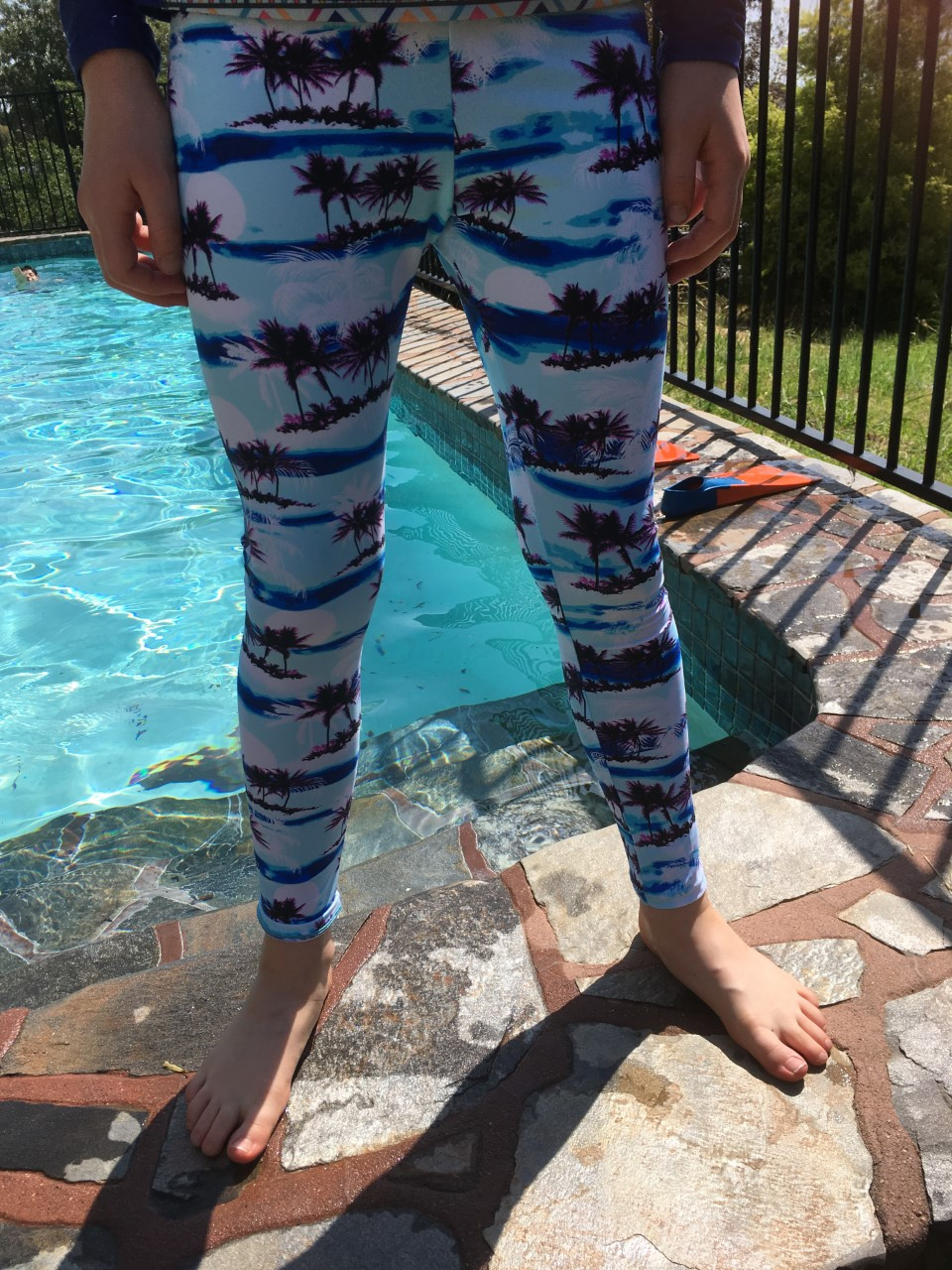 Children's swim tights for sun protection in the water this summer