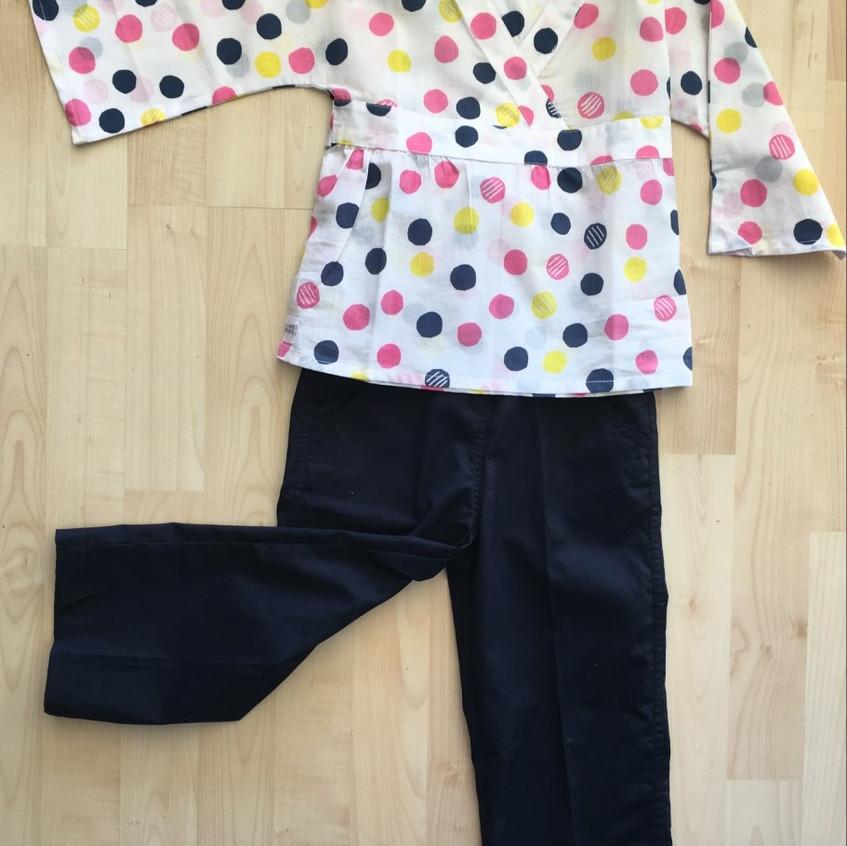 Navy Possum Pants & Zephyr pink top