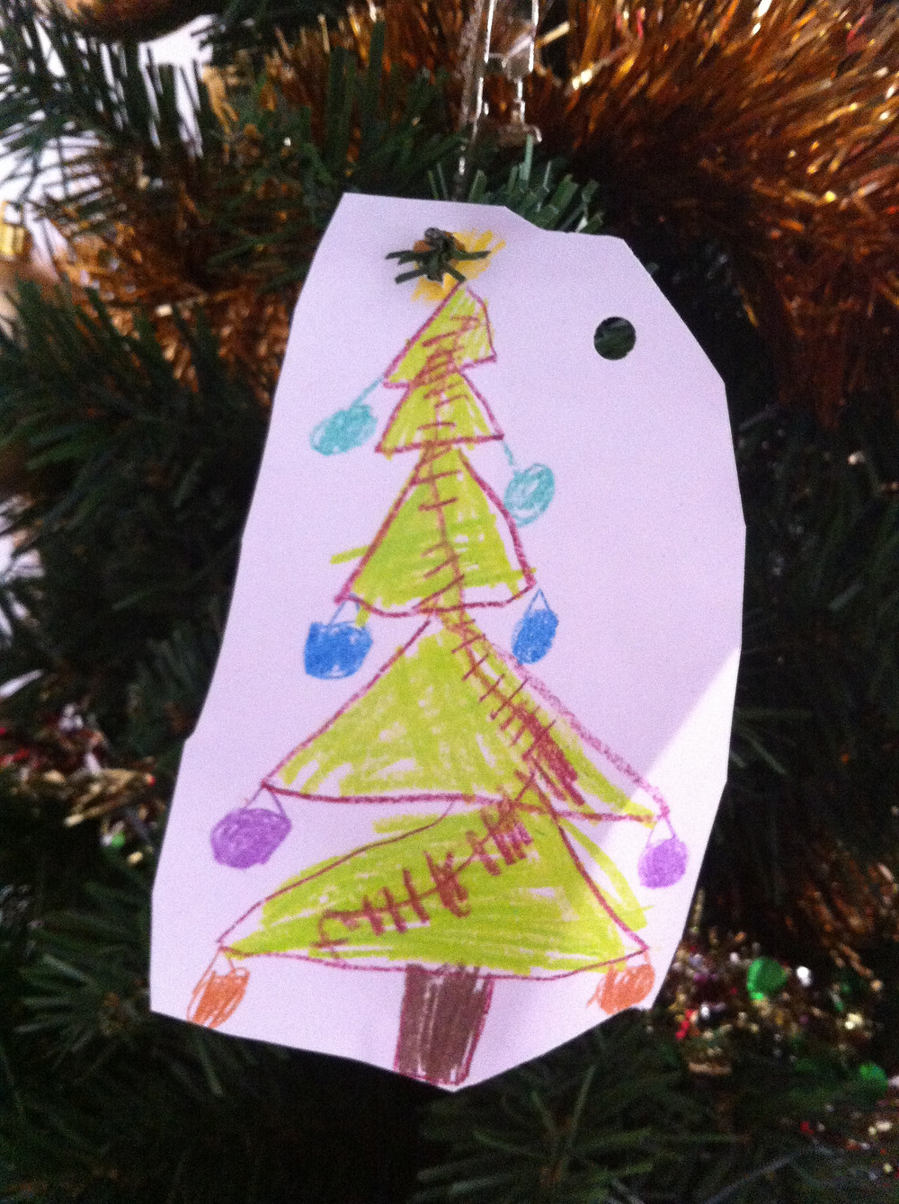 Christmas tree drawing by child