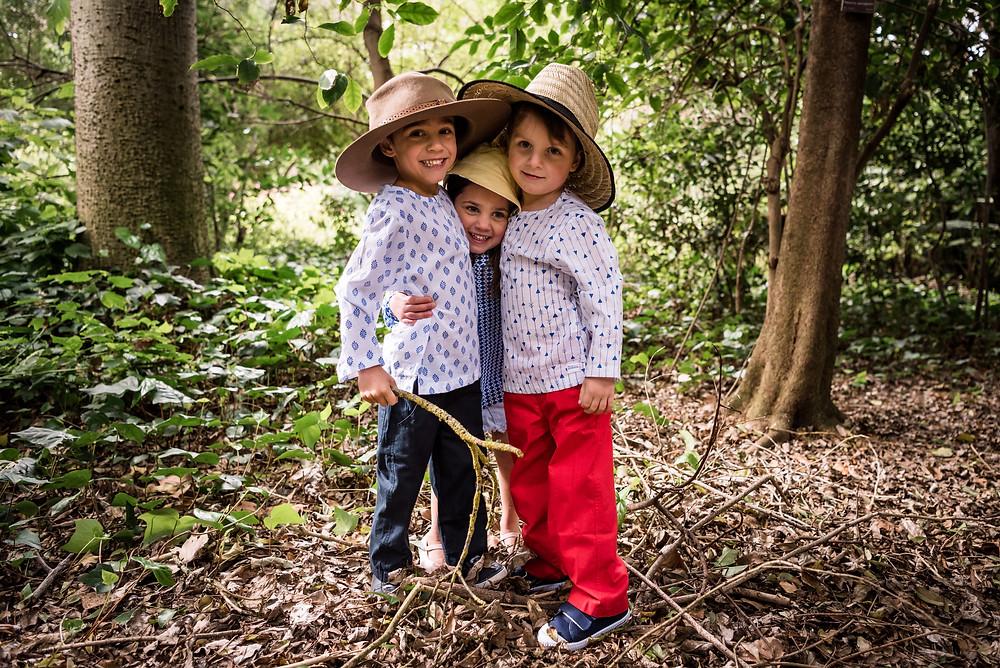 Kids wearing long sleeve lightweight cotton tops boys and girls
