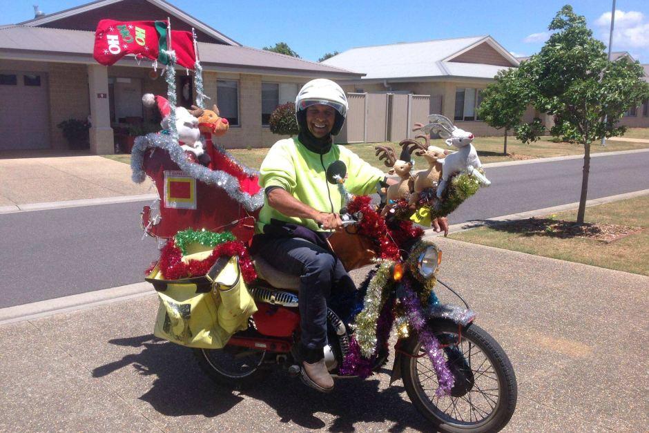 Postman delivering Australian designs