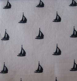 White background Sailboat