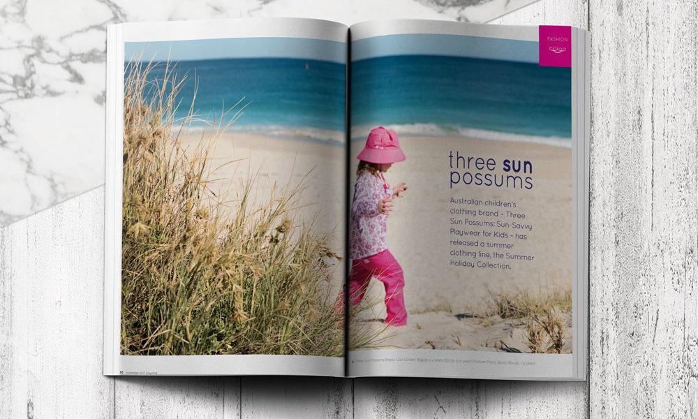 Three Sun Possums in mychild Magazine's November 2017