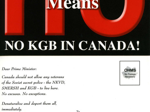 UCCLA - NO KGB IN CANADA! campaign launched