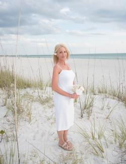 Bride on St. Pete Beach, FL.