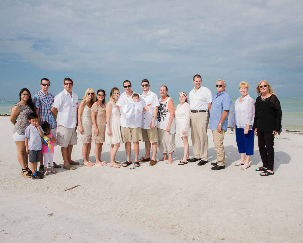 Family on Fort Desoto Beach Florida