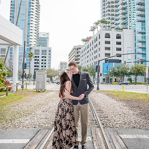 Engagement of Courtney + Ryan Curtis Hixon Park, Tampa