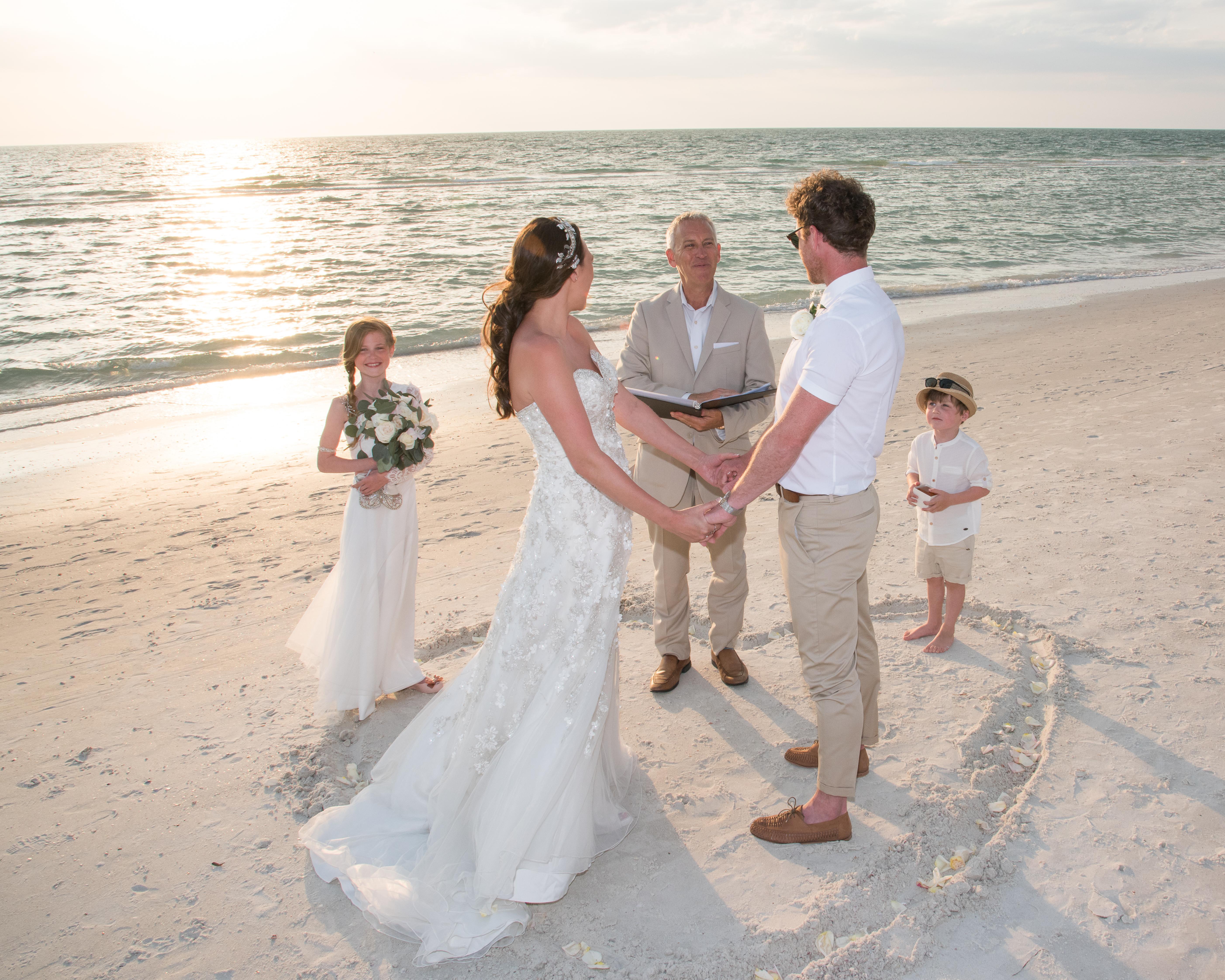 Wedding on Clearwater Beach, FL.