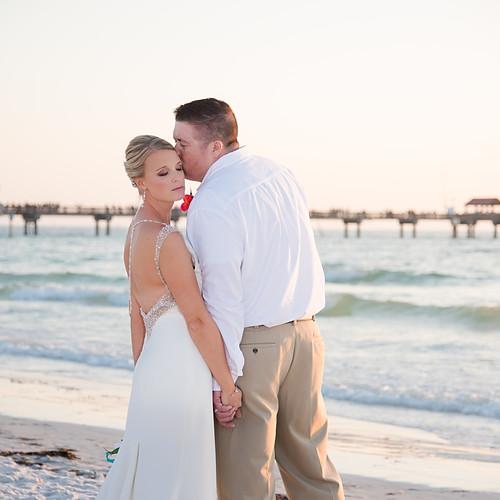 Kristin + Doug's Hilton Clearwater Beach Intimate Wedding