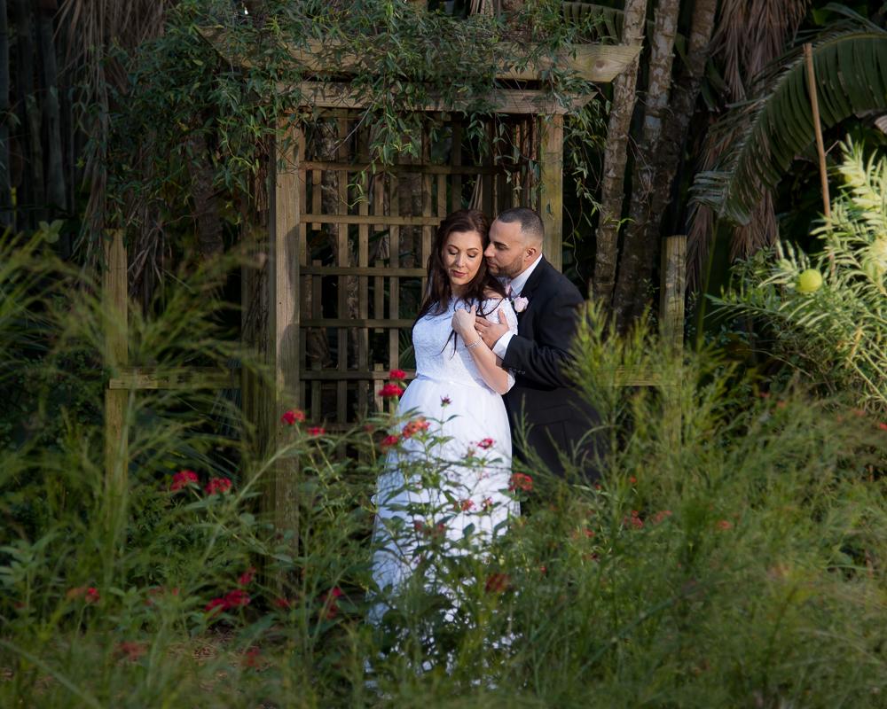 Bride and Groom at Sunken Gardens