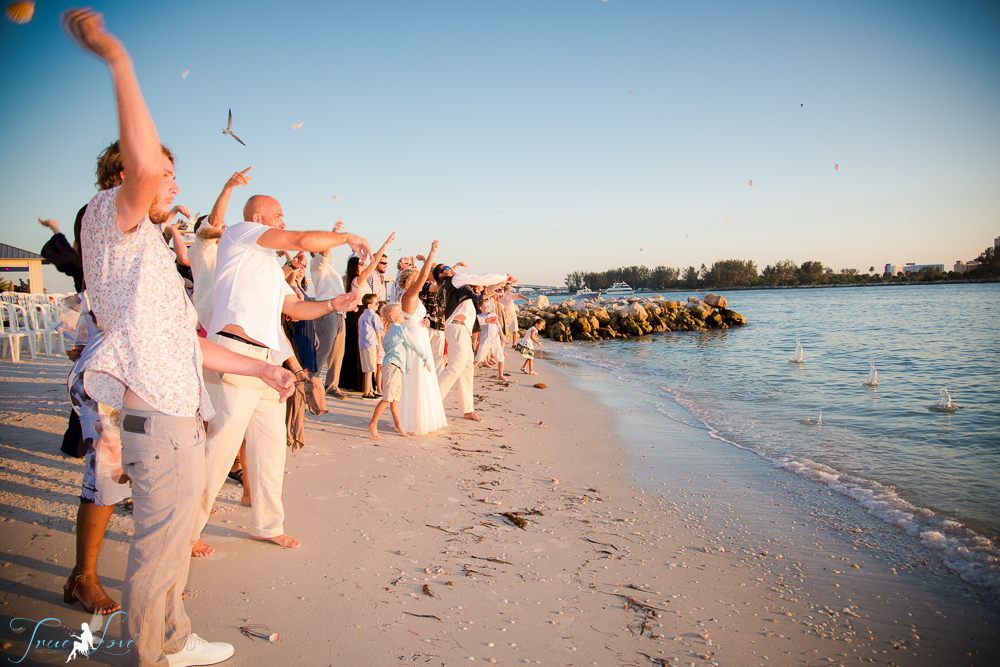 Wedding on the Beach at Shephard's