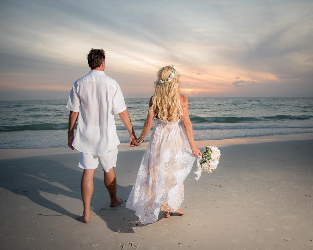 Boho Beach Bride and Groom