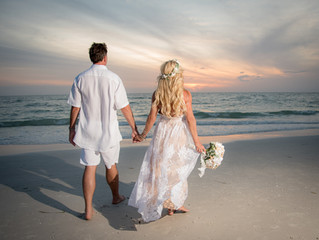 Boho Clearwater Beach Wedding