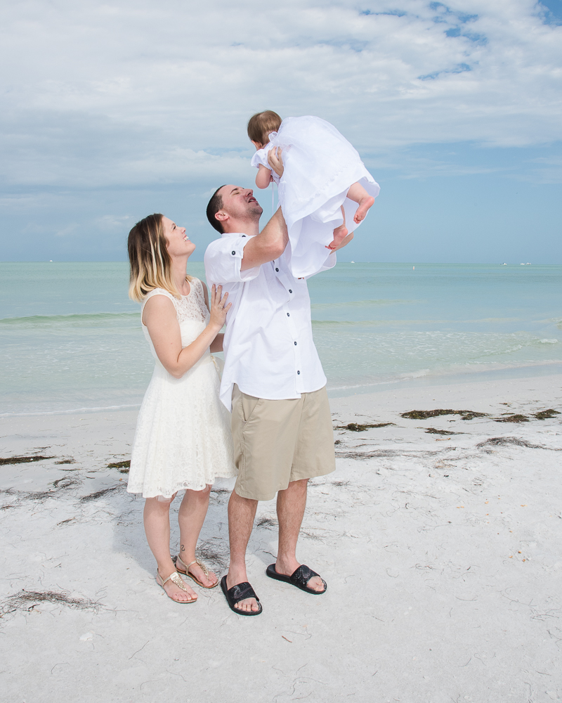 Baby Baptism on the Beach, FL.