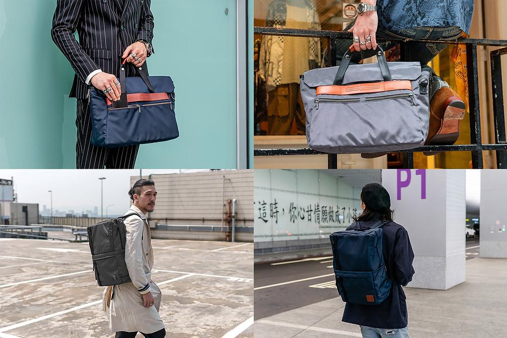 Briefpack 雙面變形包 深海藍 月石灰 公事包 後背包