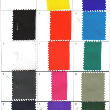 Rucksack-Stoff Farbmuster