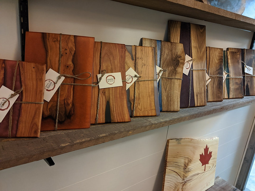 Rustic & Resin Sample products