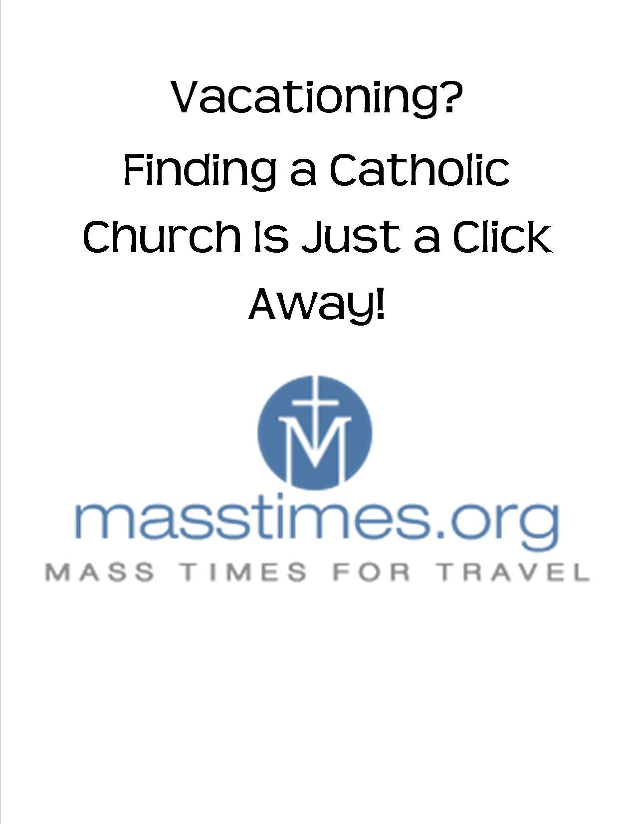 Mass Times for Travel