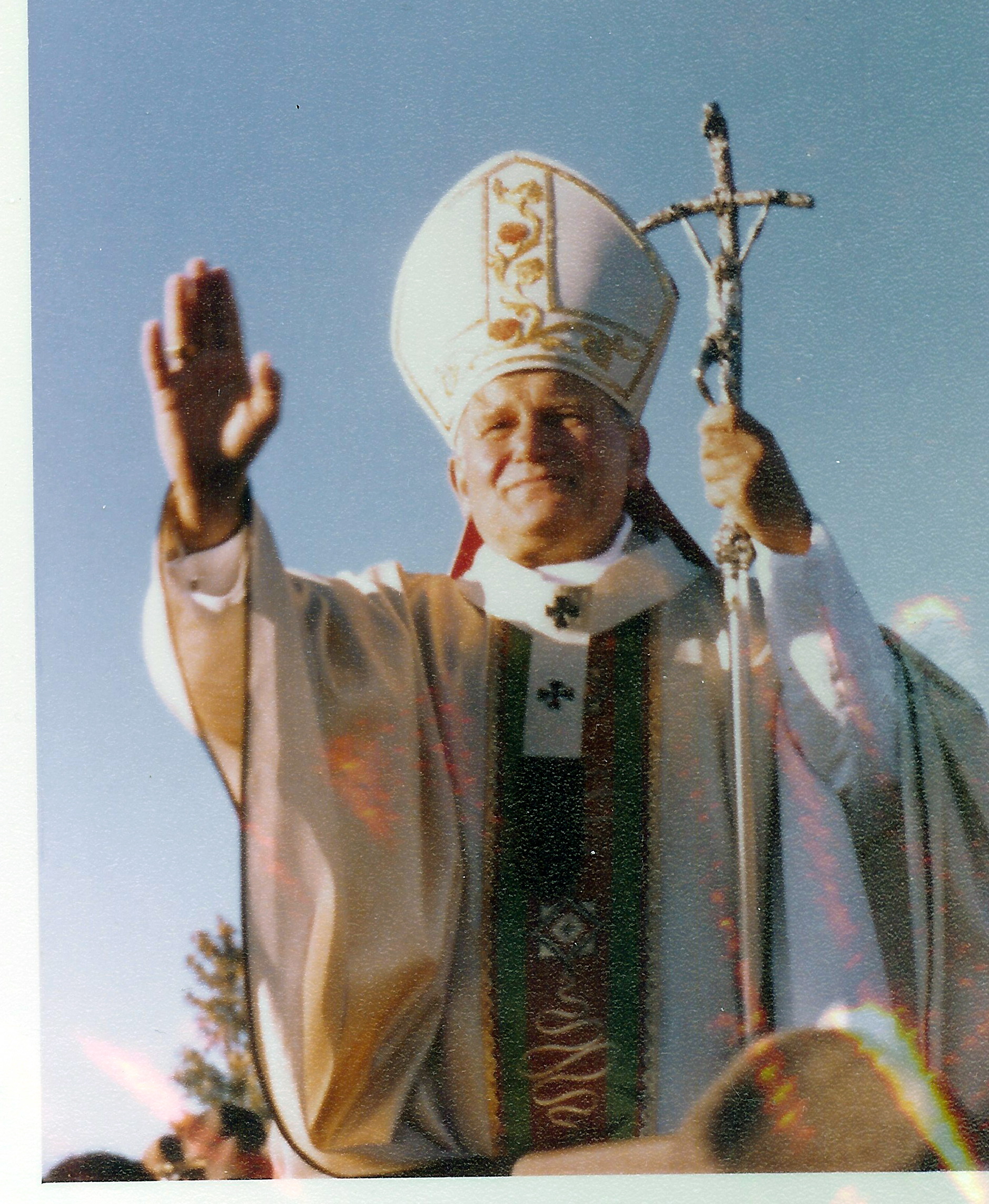 Pope John Paul II Greets the People