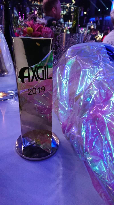 3. april 2019: AXGIL. Foreningsprisen ved Danish Rainbow Awards