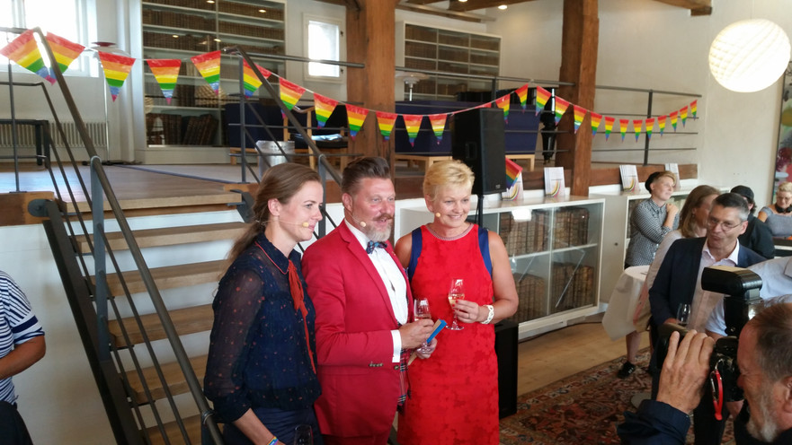 14. Aug. 2018: Reception i ligestillingsministeriet for statens LGBTI handlingsplan.