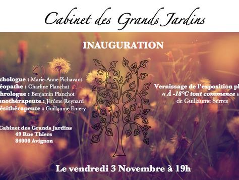 Inauguration du Cabinet des Grands Jardins !