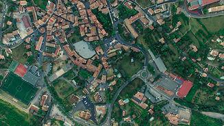 Zdjęcie lotnicze z miasta