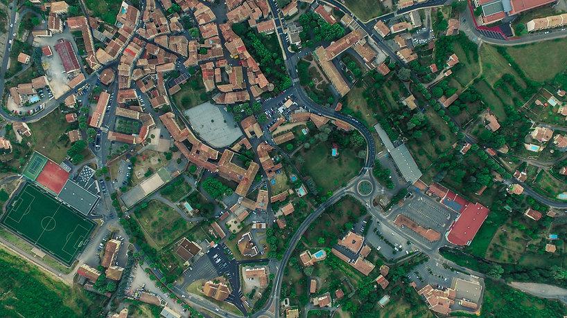 Letecký pohled na město