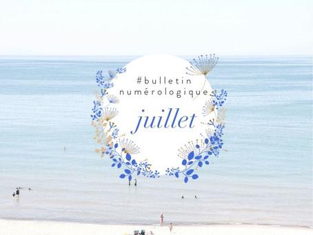 Bulletin numérologique - juillet 2019