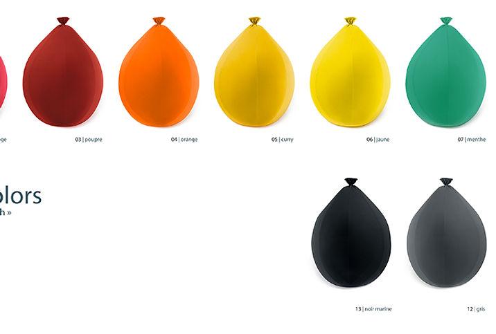 Pouf Baloon médium, un pouf en forme de baloon de baudruche, couleur, design