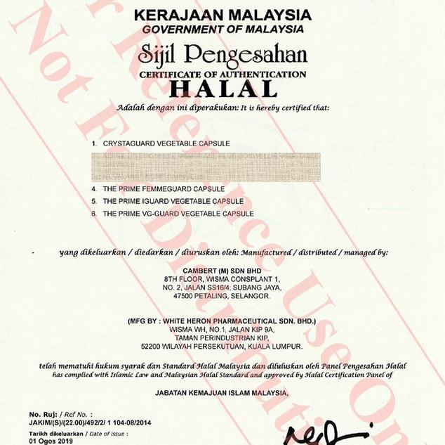 IGuard Halal Cert