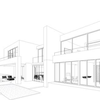 Villa Wiese - South Perspective Line.jpg