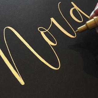 #Goldink #uniposca pen on black. Some we
