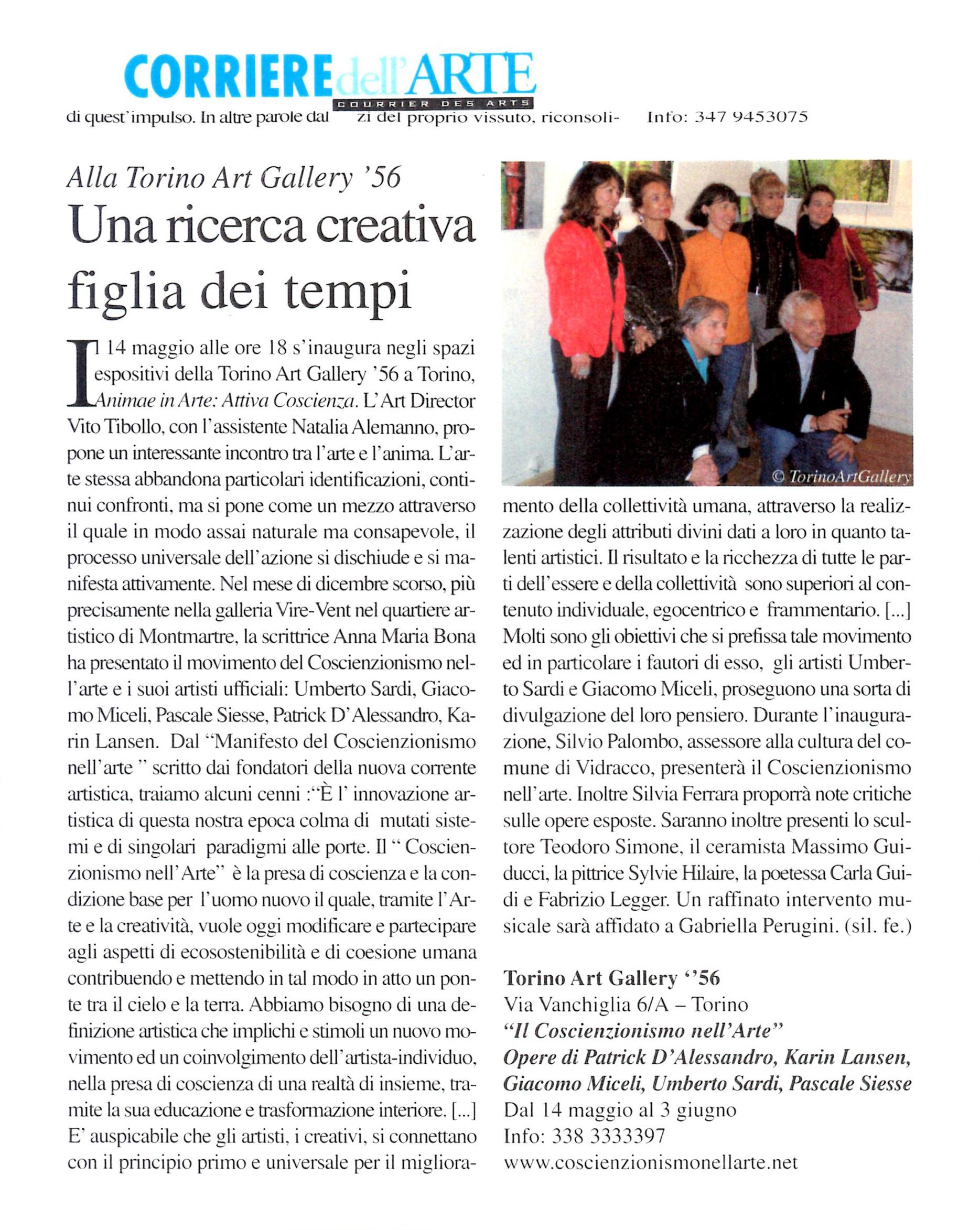 Corriere dell Arte - Mai 2011