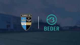 Surrey FA announce partnership Beder to raise awareness around mental health on 'Blue Monday'