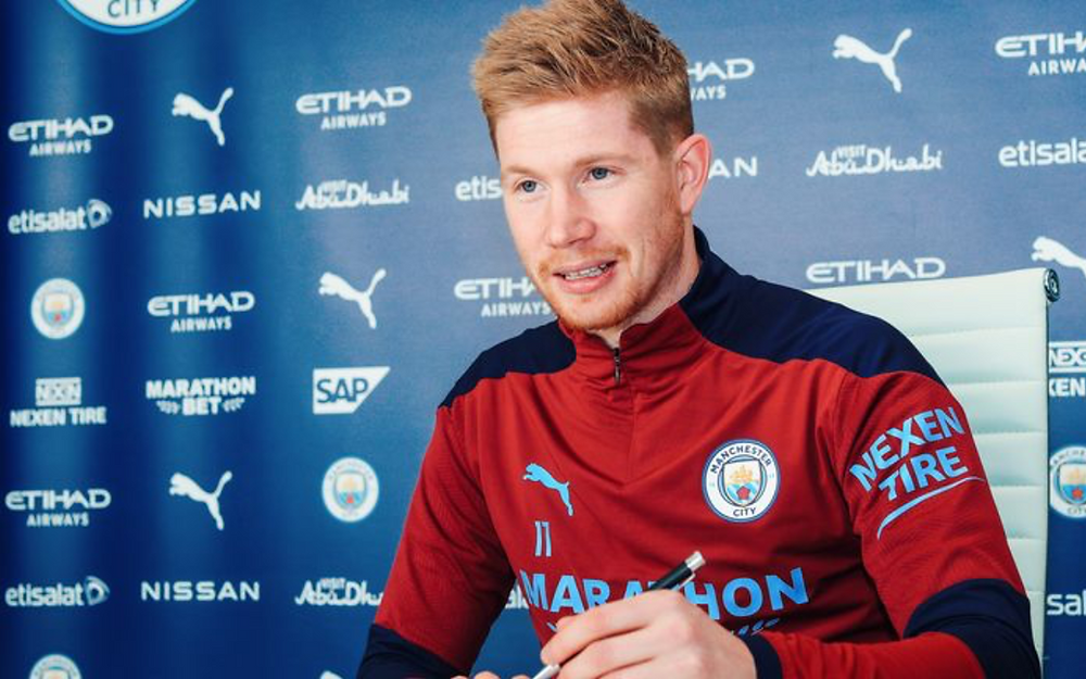 Kevin De Bruyne pens new four-year deal with Manchester City, having negotiated the deal himself