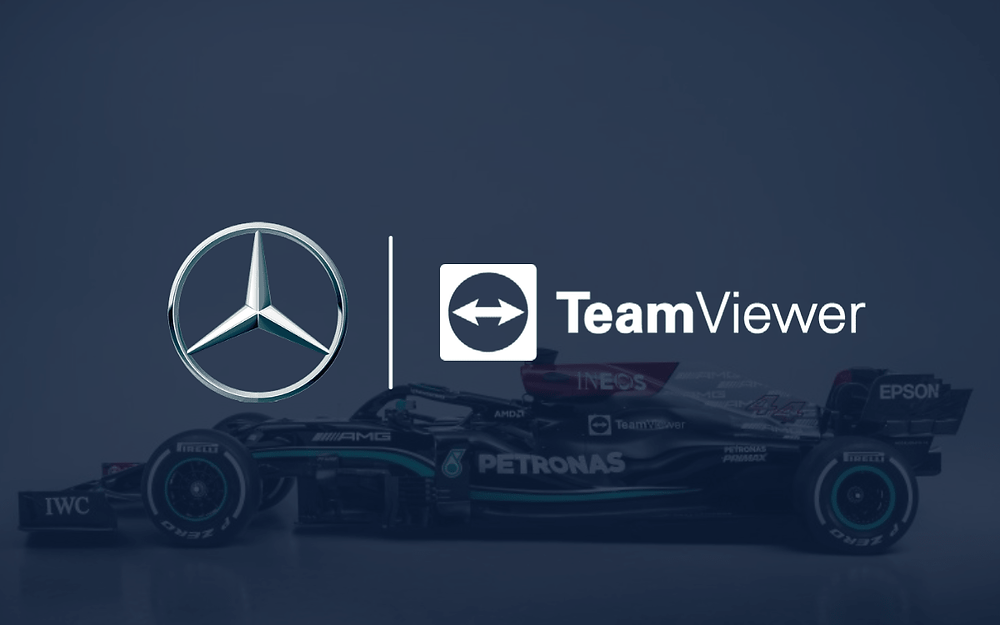 Manchester United's new shirt sponsor TeamViewer has signed a five-year partnership with Mercedes F1