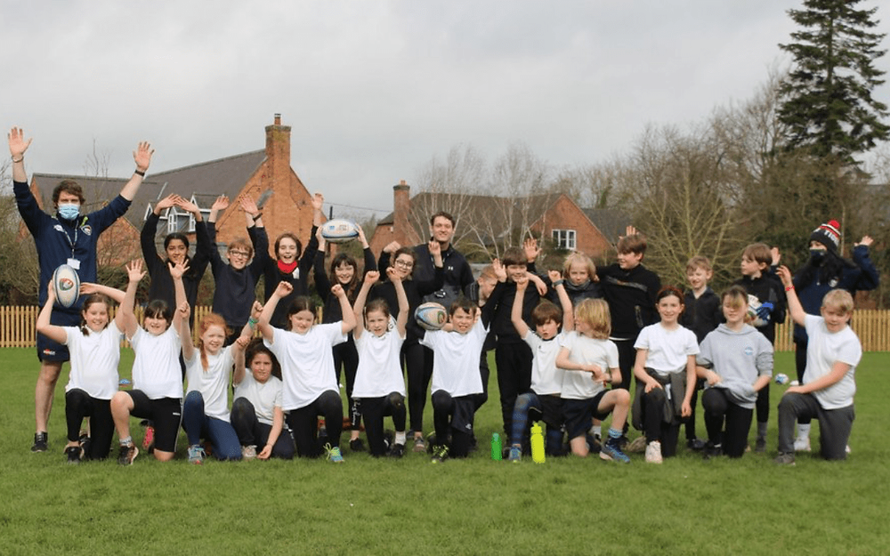 Leicester Tigers Foundation visits schools to deliver tag rugby lessons and well-being workshops